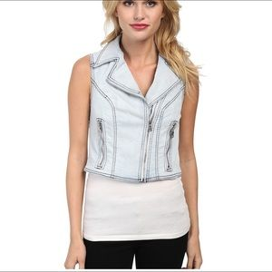 Sam Edelman Denim Vest Light Blue